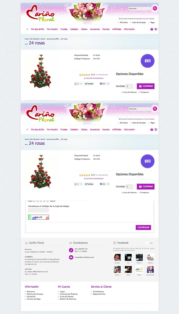 [Dev eCommerce] Cariño Floral